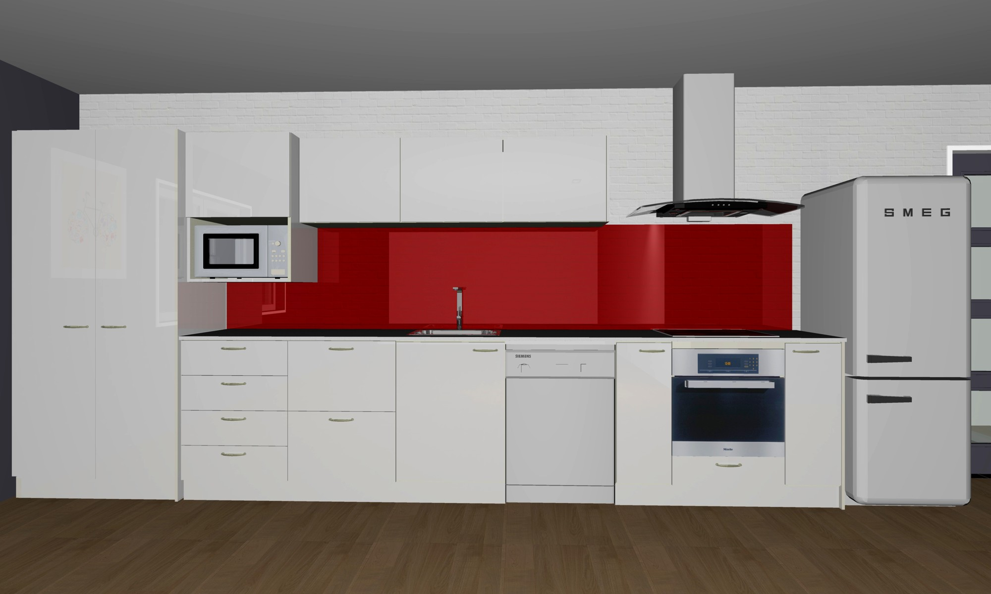 Straight Line Kitchen 3.6m X 3m